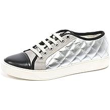 B2436 sneaker donna MONCLER LENA scarpa argento/nero shoe woman