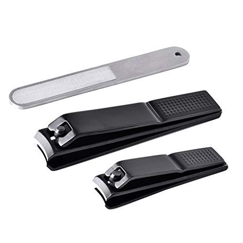 Dorical Nagelknipser Set Clippers Set für Fingernägel und Zehennägel Scharfe Nail Clipper Nagelzwicker mit Nagelfeile Nagelschneider Nagelzange 2 Nagelknipser +1Nail-Paket(B)