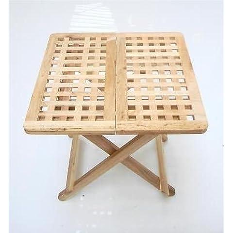 50x 50x 50cm resistente duro madera Portable plegable de fácil TV Camping mesa auxiliar