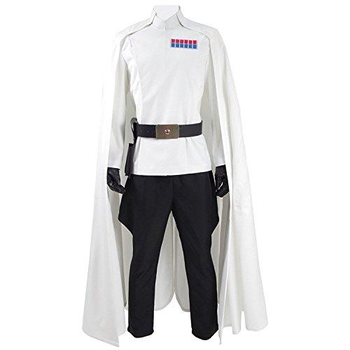 CosDaddy ® Herren Weiß Cosplay Party Kostüme Retro Stil Uniform Umhang (XL)