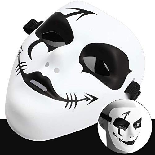 Street Zombie Kostüm - HJ&WL Halloween Maskerade Maske, Hip Hop Street Dance Masken Spuk Party Ghost Maske für Halloween Cosplay Performances Prop