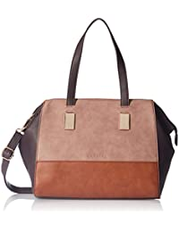 Caprese Shirine Women's Satchel (Brown, Pink and Tan)