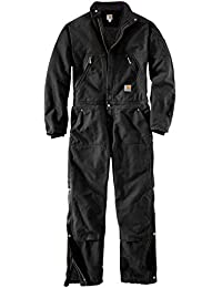 Carhartt Men Coverall Bibs & Coveralls Duck Coverall Quilt Lined 2, Größe:S, Farbe:Black