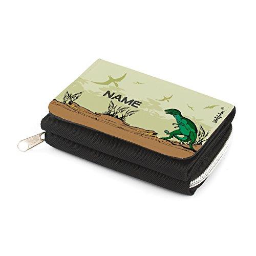 Striefchen® Dino Portemonnaie für Kinder - Gratis Namensaufdruck mit Geschenkverpackung