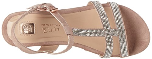 Tom Tailor 2796702, Scarpe Col Tacco con Cinturino a T Donna Pink (old rose)