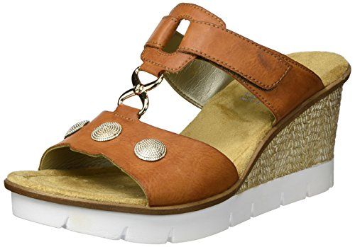 Rieker Damen 65592 Wedge Sandal , Braun (Cayenne / 24), 39 EU