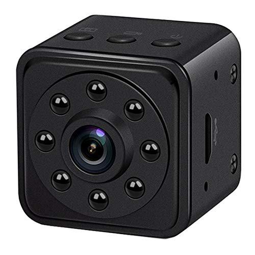 Mini Kamera 140 Grad Weitwinkel Tragbare Sicherheit Nanny Cam mit Bewegungserkennung Videokamera Nachtsicht (Unterstützt 128G SD Karten)