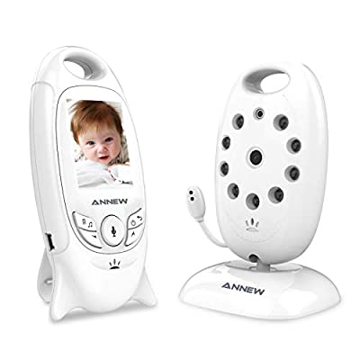 ANNEW Baby Monitor with Camera Video Audio Monitor Night Vision Temperature Sensor Lullaby Two-Way Talk (VB601-UK)  ZAY