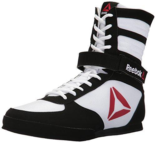 Reebok ReebokBOXING Boot-M - Stivaletti da Boxe Buck da Uomo, Bianco (Delta-White/Black), 44 EU