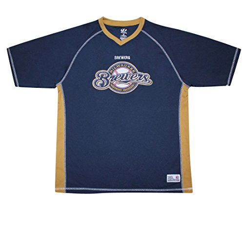 Mil Brewers Herren Athletic Dri Fit Baseball Shirt, Herren, dunkelblau (Brewer Shirts)