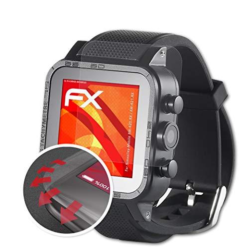 atFoliX Schutzfolie passend für Simvalley-Mobile AW-420.RX/AW-421.RX Folie, entspiegelnde & Flexible FX Bildschirmschutzfolie (3X)
