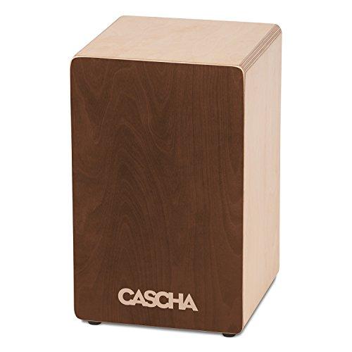CASCHA Cajon Box Brown, Handtrommel für Einsteiger und Anfänger, mit Snare-Sound, hochwertiger Birkenkorpus, aufgebaut