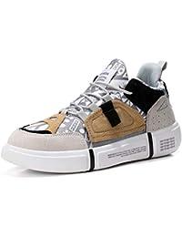 Zapatillas de Deporte Planas Mujer Primavera Otoño Cuero Lienzo Patchwork Chunky Shallow Vulcanized Shoes