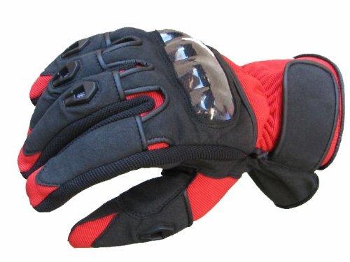 Bangla 5000 Motorradhandschuh Motorrad Handschuhe Sommer Schwarz Rot XXL