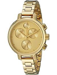 watches movado bold watches for men and women movado women s bold 34mm gold tone steel bracelet case anti reflective sapphire quartz watch 3600239 b00nbkx2g0