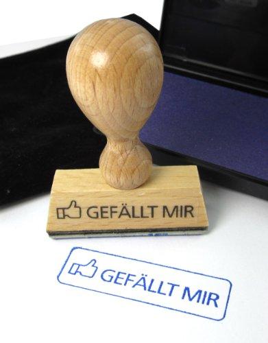 Gefällt mir - Stempel aus Holz - Das Original - Holzstempel mit Schutzlackierung