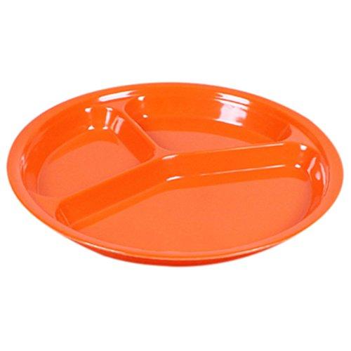 highdas-children-melamine-round-three-divided-plate-dish-tray-utensils-10-inch-orange