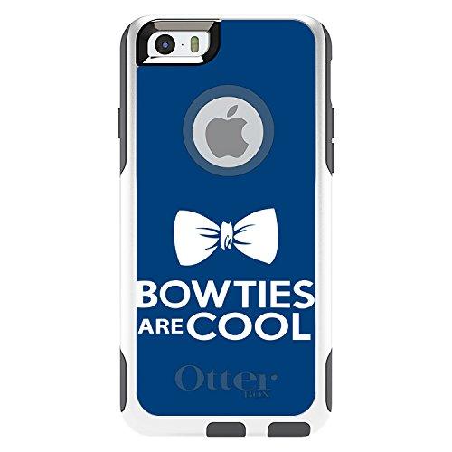 DistinctInk Fall für iPhone 6 / 6S (Not Plus) Otterbox Commuter Bow Ties sind cool auf weiß Fall -