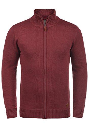 BLEND Norman Herren Strickjacke Cardigan aus hochwertiger Baumwoll-Mischung, Größe:M, Farbe:Andorra Red (73811)
