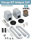 Faac Energy Kit Intégral 24V (391) Motorisation Portail 2 battants - 104575144