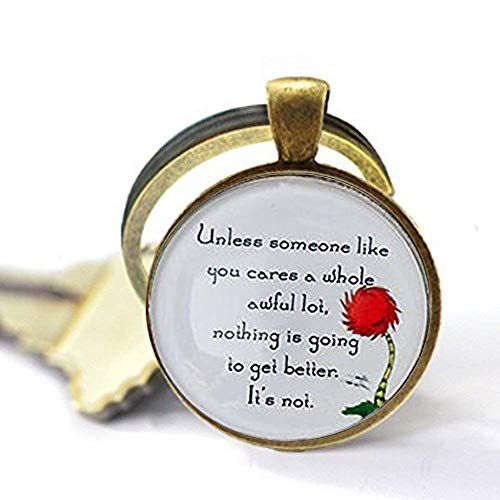 Lorax Truffula Baum 'sofern nicht' Zitat, SUNIQUE Schlüsselanhänger Key Ring Geschenk , Everyday Geschenk Schlüssel Kette
