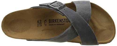 Birkenstock Tunis, Bout Ouvert Homme Gris (Bleu Artic Old Iron)