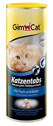 GimCat Katzentabs | köstlicher Snack kombiniert mit funktionalen Inhaltsstoffen | ohne Geschmacksverstärker | Fisch und Biotin| 1 Dose (1 x 425 g)