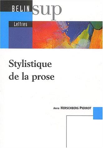 Stylistique de la prose