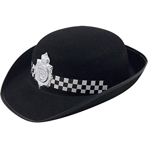 Schwarze Polizei Womans Hut - Fancy Dress - Kostüm Zubehör
