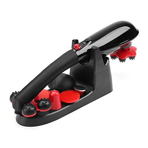 AMSM Massagegeräte Vibration Handmassagegerät mit Infrarot Wärmefunktion und Klopf Massage AufsätzenVerschiedenen Geschwindigkeitsstufen für Rücken Beine Fuß Nacken Schulter