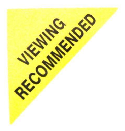 Etiquetas Para Viviendas En Venta , texto: VISITA RECOMENDADO , Amarillo , Triángulo Grande , Inmuebles & Alquileres Agente pegatinas autoadhesivas