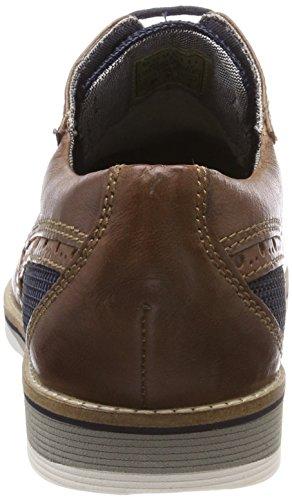Bugatti 311454013069, Scarpe Stringate Derby Uomo Marrone (Dark Brown/ Dark Blue)