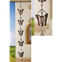 Decorativo Mariposa hierro lluvia cadena