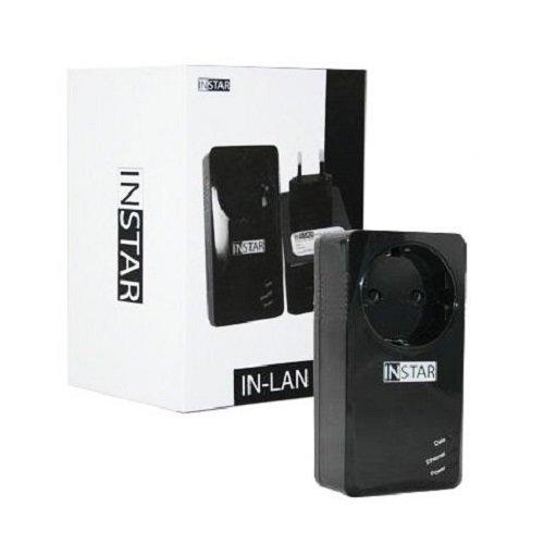 INSTAR  IN-LAN 500p schwarz / Powerline Adapter / Zusatzadapter / Netzwerk über die Steckdose / Stromleitung / HomePlug konform | 4260226124966
