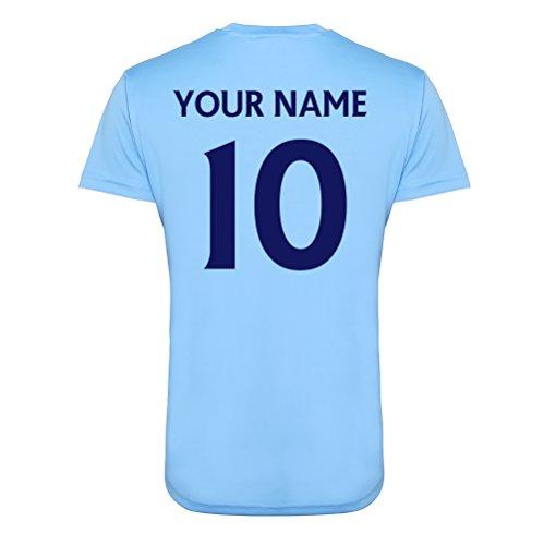 Manchester City Offizielle Personalisierte Verein Ist Ihr Name Zahl hier Fußball-Training Top Für Erwachsene Junior Kinder England Spiel Geburtstag Geschenk Individuellen Druck für jeden Fan (Trikot Training Chelsea)