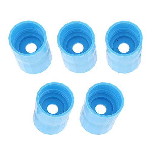 D DOLITY 5er-Set Tornadoadapter Flaschen Wirbel Adapter Flaschentornado Aufsatz für Wissenschaft Experiment - Blau