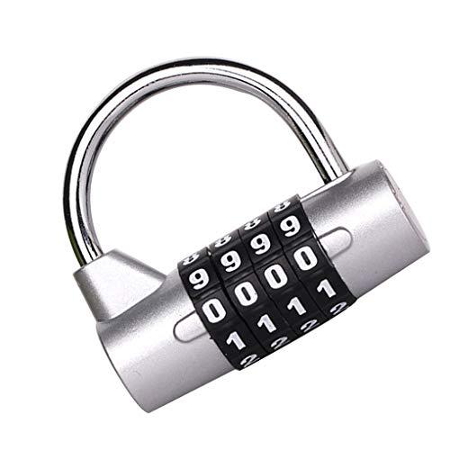Diamoen 4-stellige Kombination Passwort Kodeschloss Zink-Legierung Schrank Schrank Locker Padlock zufällige Farbe -