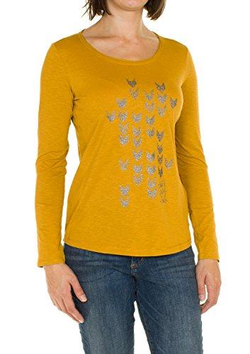 Cecil Basic-Maglietta da donna con brillantini caricamento oro (Golden Glow) L