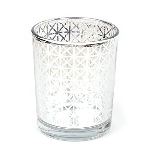 Wanfor Romantische Kerzen Geschenkset, Tisch Kerzen Dekoration, Xmas Candle Gifts Mosaik Glas Kerze Holders-Tealight votive C Bis zur Hochzeit Heimatparty Dekor