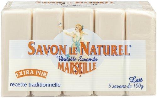 Savon le Naturel –Sapone di Marsiglia Extra Puro al latte x 5–100g