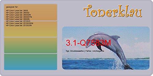 Q7583a Farbe (Toner / Druckkassette kompatibel zu HP Q7583A, 503A, Farbe: magenta, kompatible Druckkassette 3.1-Q7583M , geeignet für: Color LaserJet 3800 Color LaserJet 3800D Color LaserJet 3800DN Color LaserJet 3800DTN Color LaserJet 3800N Color LaserJet CP3505 Color LaserJet CP3505DN Color LaserJet CP350)