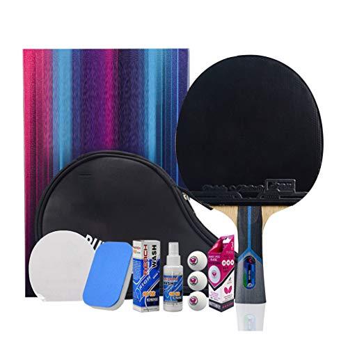 JWD HOME Paddle Profesional De Tenis De Mesa 8 Estrellas - Paleta De Ping Pong con Estuche De Transporte - Goma Aprobada para Juego En Torneos