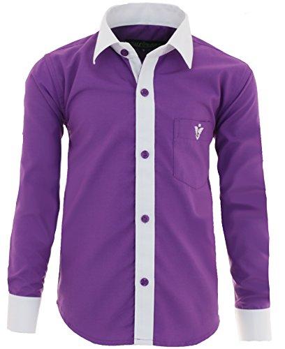 Gillsonz - camicia - classico  - ragazzo lila 12 anni