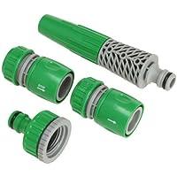 Saturnia 8060340 Set Riego Plastico4 Piezas, Verde, 22x13x4 cm