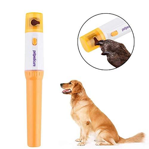 Yaoaomon Elektrische Schere Nagelfeile Kit Pet Maniküre Hund Katze Clipper Trimmer Grinder Orange 4PCS (Kit Grooming Trim)