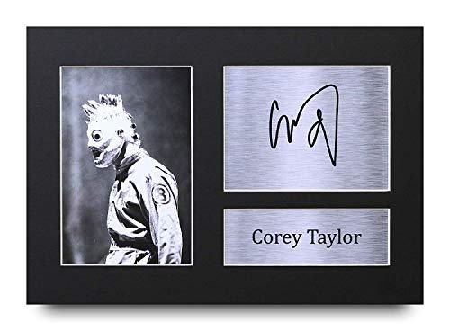 HWC Trading Corey Taylor A4 Ungerahmt Signiert Gedruckt Autogramme Bild Druck-Fotoanzeige Geschenk Für Slipknot Musik-Fans -