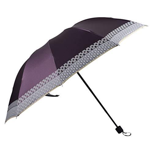 Outflower. Business-Regenschirm 10 Knochen dreifachgefalteter Regenschirm Sonnenschutz Anti-UV-Regenschirm - Luxus-Extrem - tragbares