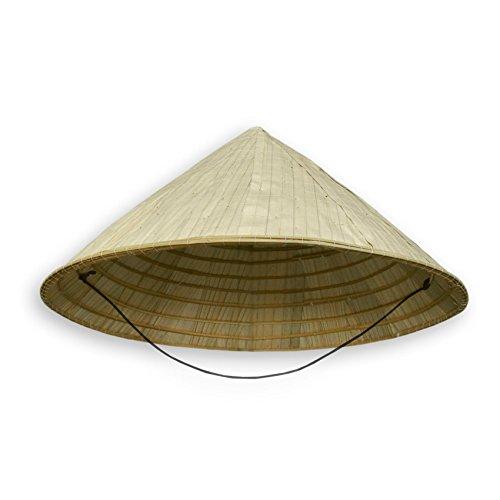 Chinahut, Sonnenhut, Bambushut - verschiedene Ausführungen (Modell 80019 - Größe: ca. 40 cm x 18 cm)