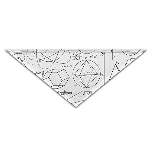 Gxdchfj Mathematics Geometry Formula Euclidean Triangle Pet Scarf Dog Bandana Pet Collars Dog Cat - (Benutzerdefinierte Kostüm Designer)