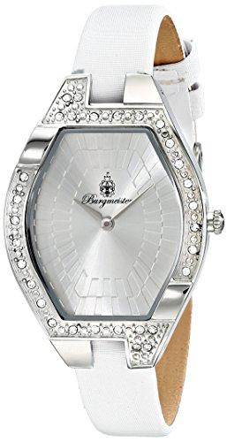Burgmeister Arvada BM801-186 - Reloj de cuarzo para mujer, correa de cuero, color blanco